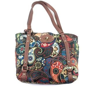 Paisley Two Section Shoulder Bag Purse